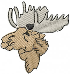 Moose Head embroidery design
