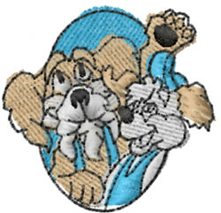 Doggies embroidery design