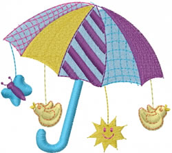 Baby Umbrella embroidery design