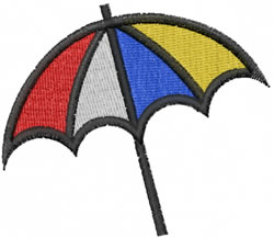 Umbrella embroidery design
