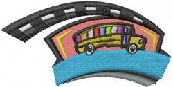 Schoolbus embroidery design