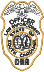 South Carolina Police embroidery design