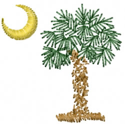 Palm Tree and Moon embroidery design