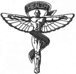 Health Icon embroidery design