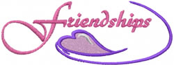Friendships embroidery design