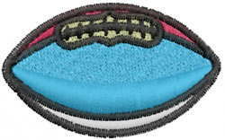 Colored Football embroidery design