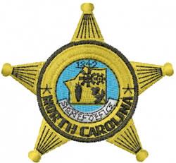 North Carolina Police embroidery design