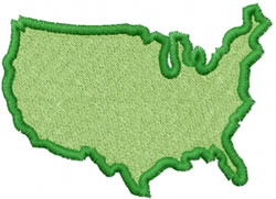 United States Outline embroidery design
