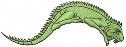 Green Iguana embroidery design