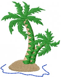 Palm Island embroidery design