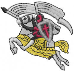 Jousting Knight embroidery design