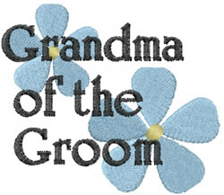 Grandma of the Groom embroidery design