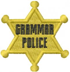 Grammar Police embroidery design