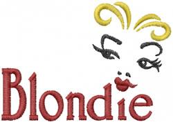 Blondie embroidery design