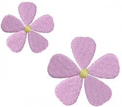 Pair of Flowers embroidery design
