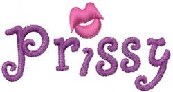 Prissy embroidery design
