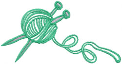 Knitting Ball embroidery design