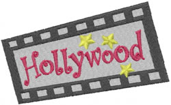 Hollywood embroidery design