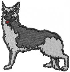 Sheperd Dog embroidery design