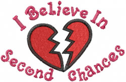 Second Chances embroidery design