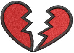 Broken Heart embroidery design