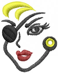 Pirate Girl Face embroidery design