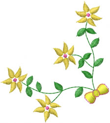Flower Bow embroidery design