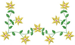 Flower Vines embroidery design