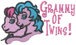 Grammy of Twins embroidery design