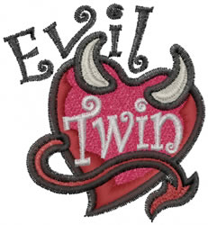 Evil Twin embroidery design