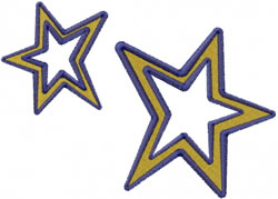 Stars embroidery design