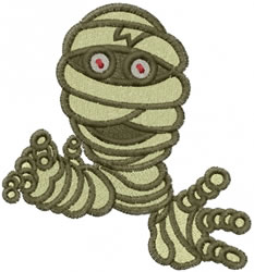 Spooky Mummy embroidery design