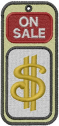 Price Tag embroidery design