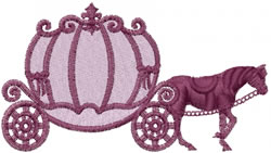 Horse Carriage embroidery design