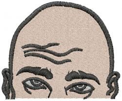 Baldy embroidery design