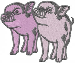 Pair of Pigs embroidery design