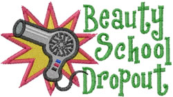 Beauty Dropout embroidery design