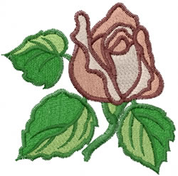 Salmon Rose embroidery design