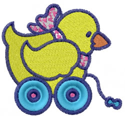 Roller Duck embroidery design