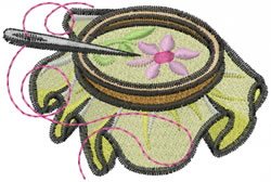 Embroidery Hoop embroidery design