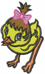 Chick embroidery design