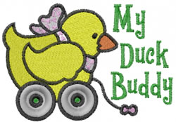 Duck Buddy embroidery design