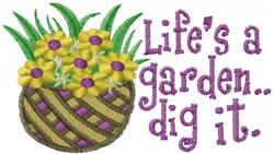 Dig A Garden embroidery design