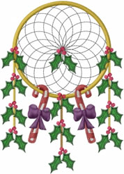 Holiday Dream Catcher embroidery design