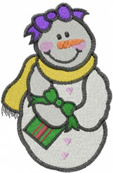 Snow Girl embroidery design