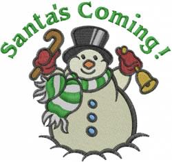 Santas Coming embroidery design