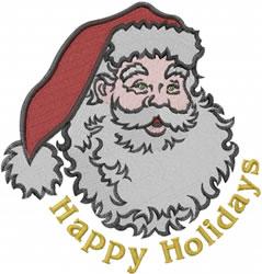 Holiday Santa embroidery design