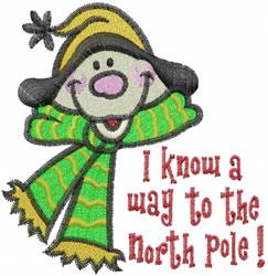 North Pole Snowman embroidery design