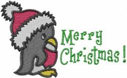 Peguin Christmas embroidery design