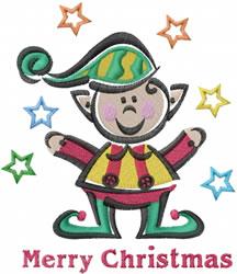 Merry Elf embroidery design